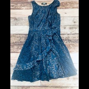Eva Franco lace dress size L -euc anthro brand!